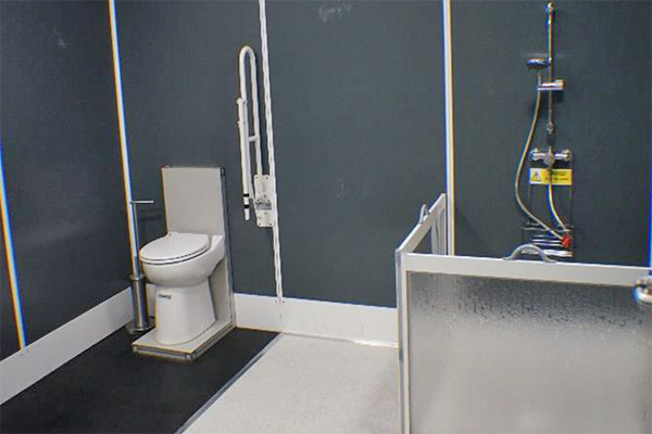 The Temporary Storage Group accessible shower room