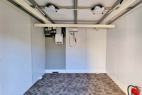 Hoist installed in a bedroom by the Temporary Solutions Group