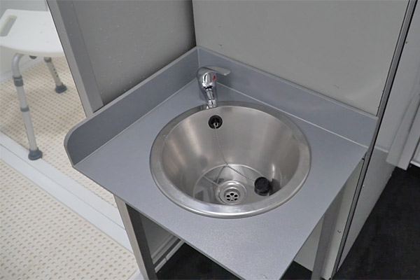 Temporary Solutions Group accessible bathroom sink