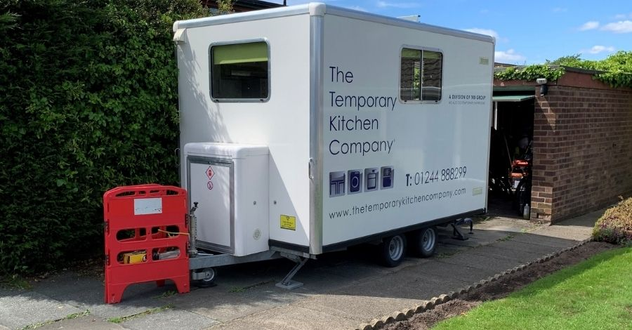 The Ellesmere Kitchen Pod providing cooking and washing facilities on your driveway