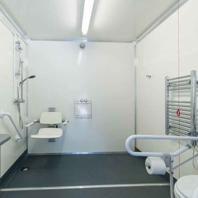 Disability friendly bathroom from the Temporary Solutions Group